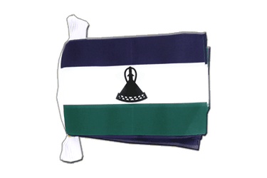 "Lesotho new Flag Bunting 6x9"", 9 m"