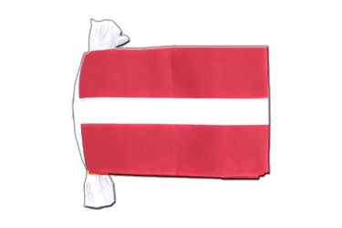 Latvia Flag Bunting 6x9""