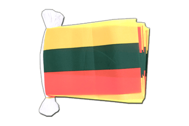 "Lithuania Flag Bunting 6x9"", 9 m"