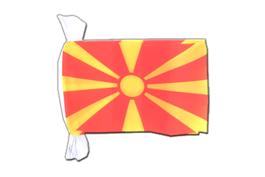 Macedonia - Flag Bunting 6x9""