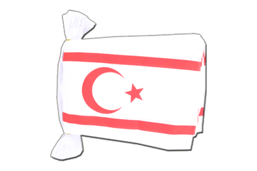 "North Cyprus Flag Bunting 6x9"", 9 m"