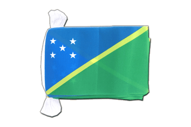 "Solomon Islands Flag Bunting 6x9"", 9 m"