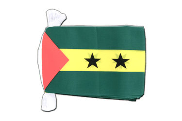 "Sao Tome and Principe Flag Bunting 6x9"", 9 m"