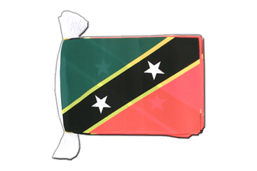 Saint Kitts and Nevis Flag Bunting 6x9""