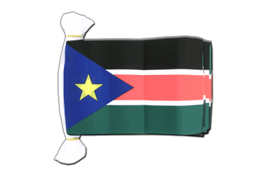 "Southern Sudan Flag Bunting 6x9"", 9 m"