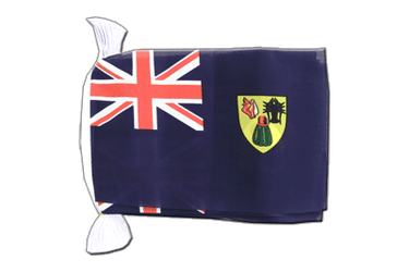 "Turks and Caicos Islands Flag Bunting 6x9"", 9 m"