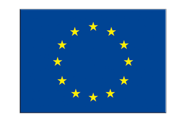 "European Union EU Flag Sticker 3x4"", 5 pcs"