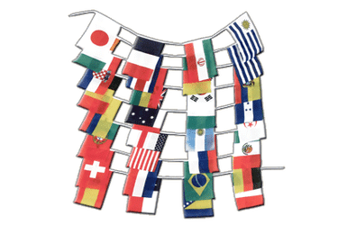 World Cup Flags Brazil 2014 Bunting Flags - 5.9 x 8.65 inch