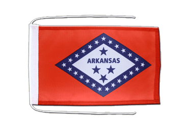 Arkansas Flag with ropes 8x12""