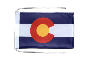 Colorado - Flag with ropes 8x12""