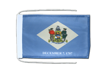Delaware Flag with ropes 8x12""