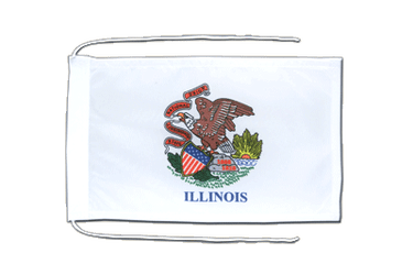 Illinois Flag with ropes 8x12""