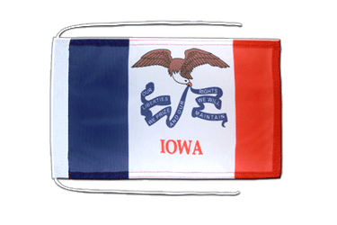 Iowa - Flag with ropes 8x12""