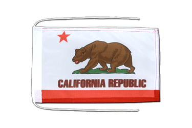California Flag with ropes 8x12""