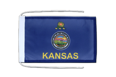Kansas Flag with ropes 8x12""