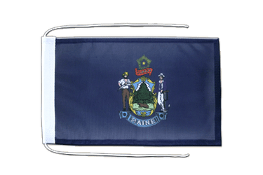 Maine Flag with ropes 8x12""