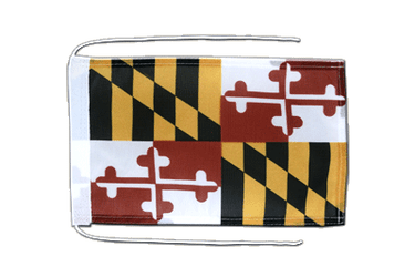 Maryland Flag with ropes 8x12""