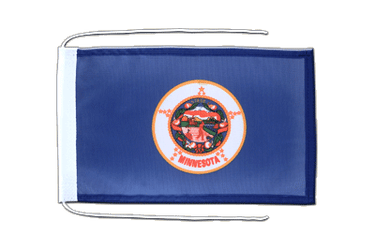 Minnesota Flag with ropes 8x12""