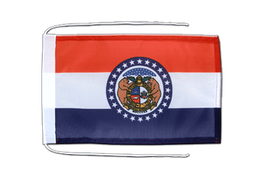 Missouri Flag with ropes 8x12""