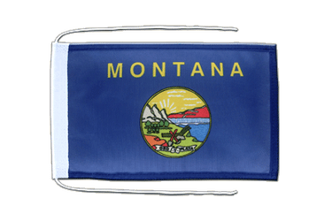 Montana Flag with ropes 8x12""