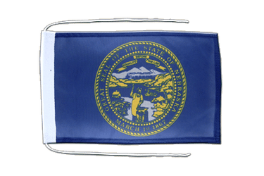 Nebraska - Flag with ropes 8x12""