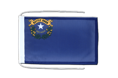 Nevada Flag with ropes 8x12""