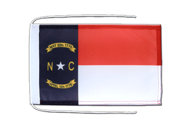 Drapeau avec cordelettes USA US North Carolina - 20 x 30 cm