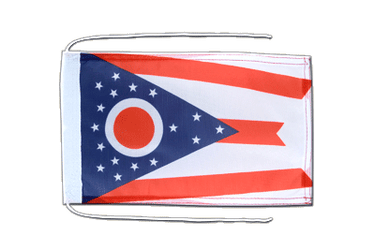 Ohio Flag with ropes 8x12""