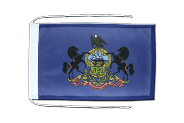 Pennsylvania - Flag with ropes 8x12""