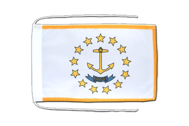 Rhode Island Flag with ropes 8x12""