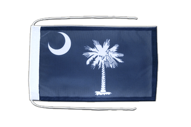 South Carolina - Flag with ropes 8x12""
