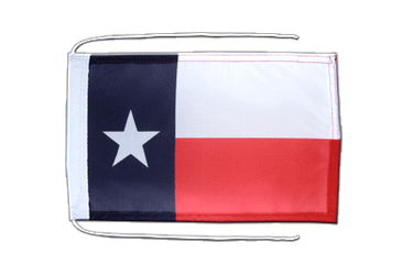 Texas - Flag with ropes 8x12""