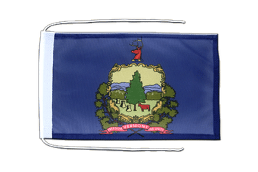 Vermont Flag with ropes 8x12""