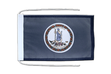 Virginia Flag with ropes 8x12""