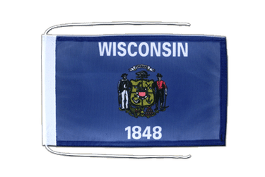 Wisconsin - Flag with ropes 8x12""