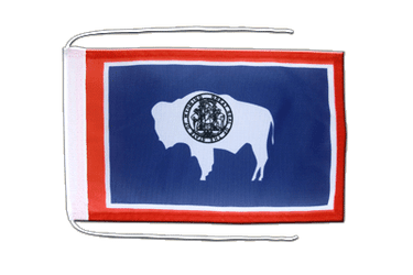 Wyoming Flag with ropes 8x12""