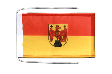 Burgenland Flag with ropes 8x12""
