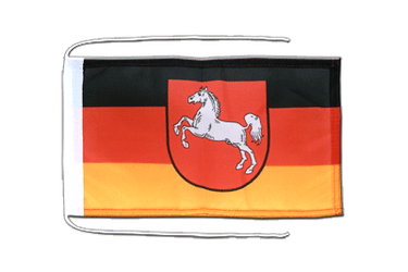 Lower Saxony Flag with ropes 8x12""