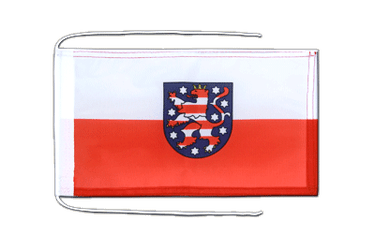 Thuringia - Flag with ropes 8x12""