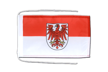 Brandenburg Flag with ropes 8x12""