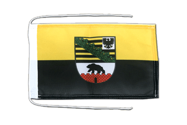 Saxony-Anhalt Flag with ropes 8x12""