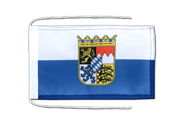 Bavaria Dienstflagge Flag with ropes 8x12""