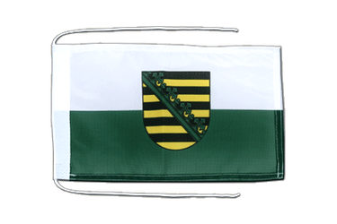 Saxony Flag with ropes 8x12""