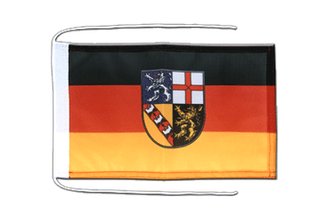 Saarland - Flag with ropes 8x12""