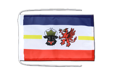 Mecklenburg-Western Pomerania - Flag with ropes 8x12""
