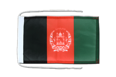 Afghanistan - Flag with ropes 8x12""