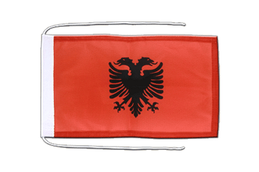 Albania Flag with ropes 8x12""