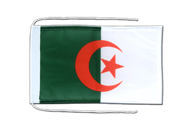 Algeria - Flag with ropes 8x12""