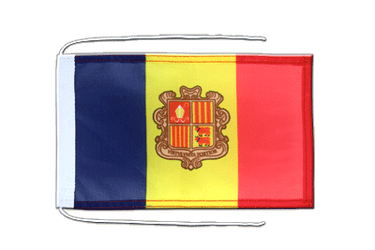 Andorra Flag with ropes 8x12""
