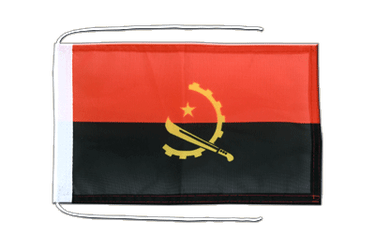 Angola - Flag with ropes 8x12""